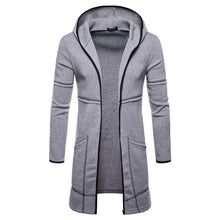 Load image into Gallery viewer, Men's Jacket Hooded Sportswear Fashion Mens Hooded Solid Trench Coat Jacket Cardigan Long Sleeve Outwear Blouse Jacket Manteau