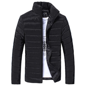 Man's Jackets And Coats Winter Brand Men Cotton Stand Zipper Warm Winter Thick Coat Jacket Men's Windbreaker Jackets