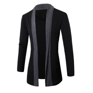 New 2019 Casual men's Jackets Stylish Men Fashion Cardigan Jacket Slim Long Sleeve Casual Coat Fashion Plus Size men's Jacket