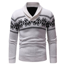 Load image into Gallery viewer, WENYUJH Mens Sweater Long Sleeve Slim Fit Knitted Pullover Casual Man V-Neck Christmas Pattern Autumn Winter Sweaters Hombre