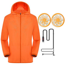 Load image into Gallery viewer, JAYCOSIN Summer Outdoor Air-Conditioned Clothes Women Men Cooling Jacket 2PC Fan UV Fishing Outdoor High Temperature Working 612