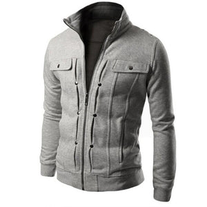 Men's Denim Jacket Cotton TOP Fashion Mens Slim Designed Lapel Cardigan Coat Jacket Men's Windbreaker Jackets Outwear Sporting