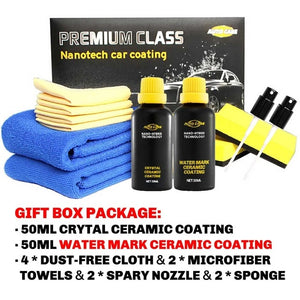 Ceramic Car Coating Liquid Glass 50ML 9H Hardness Car Polish Motorcycle Paint Care Nano Hydrophobic Coating Anti Scratch