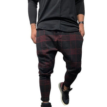 Load image into Gallery viewer, CYSINCOS Men Stylish Loose Plaid Pant Printed Casual Harem Pants Joggers Sporting Trousers Men Hip Hop Streetwear pantalon homme