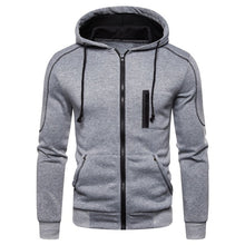 Load image into Gallery viewer, JAYCOSIN men jackets and coats Autum Winter Long Sleeve Hooded Zipper Outwear overcaot Print Baseball bomber jackets for men 717