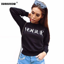 Load image into Gallery viewer, XUNASHOW 2019 Autumn Winter Fleece Sweatshirts for Women Pullover VOGUE Printed Letters Tops