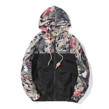 Load image into Gallery viewer, Floral Bomber Jacket Men Hip Hop Slim Fit Flowers Pilot Jacket Coat Men's Hooded Jackets Euro Size S-2XL Drop Shipping ,DA995