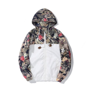 Floral Bomber Jacket Men Hip Hop Slim Fit Flowers Pilot Jacket Coat Men's Hooded Jackets Euro Size S-2XL Drop Shipping ,DA995