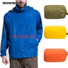 Load image into Gallery viewer, JAYCOSIN 5XL Men Women Quick Dry Skin Coat Lightweight Jacket Waterproof Windbreaker Jacket Protect Running Coat Plus size 67