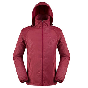 JAYCOSIN 5XL Men Women Quick Dry Skin Coat Lightweight Jacket Waterproof Windbreaker Jacket Protect Running Coat Plus size 67