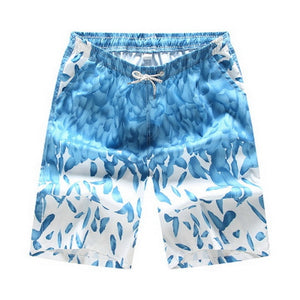Hawii Print Swiming Shorts Men Drawstring Casual Sunga Masculina Loose Quick Dry Board Shorts Elastic Waist Usa Beach Shorts