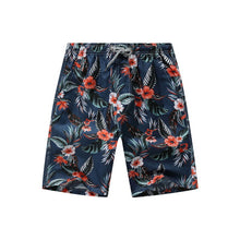Load image into Gallery viewer, Hawii Print Swiming Shorts Men Drawstring Casual Sunga Masculina Loose Quick Dry Board Shorts Elastic Waist Usa Beach Shorts