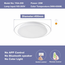 Load image into Gallery viewer, Modern LED ceiling Lights home lighing 25W 36W 52W APP Bluetooth Music light bedroom lamps Smart ceiling lamp