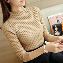 Load image into Gallery viewer, 2019 Autumn Winter Sweater Women Long Sleeve Pullover Women Slim Knit Basic Tops