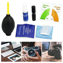 Load image into Gallery viewer, For Canon For Nikon For Sony 5-In-1 Set Dust Cleaning Tools Camera Lens Cleaning Brush Wipe Hair Dryer Set