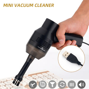 Mini Vacuum Cleaner USB Keyboard Cleaner Handheld Electric Car Vacuum For Keyboard Laptop Cleaning Kit Black 1pcs