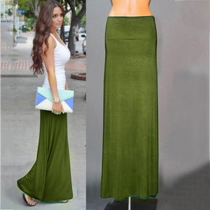 Womail Skirt Women NEW Summer Beach Skirt Sexy Long Jersey Bodycon Maxi Skirt Ladies Skirt Casual Fashion 2019 dropship M28