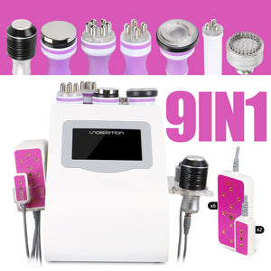 9 In 1 Ultrasound 40K Vacuum LED Light Therapy Body Suction Slimming Skin Rejuvenation Face and Body  Beauty Machine