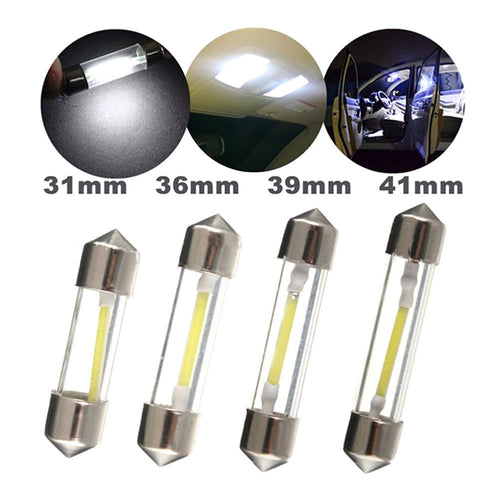 1 Pcs c5w Car LED Dome Festoon Lights 31MM 36MM 39MM 41MM Indicator Bulb Reading Map License Plate Lamp DC 12V led White