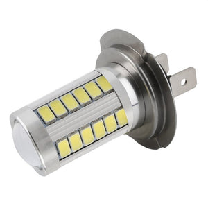 1 Pcs H7 LED Car LED Bulbs 33 5630 SMD Auto Car Fog Light Brake Tail Lamp White For DC 12V