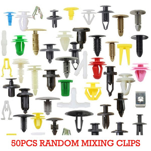 100Pcs Mixed Auto Fastener Vehicle Car Bumper Clips Retainer Fastener Rivet Door Panel Fender Liner Universal Fit for All Car