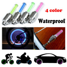 Load image into Gallery viewer, 2PCS Bike Car Motorcycle Wheel Tyre Valve Cap Flash LED Light Lamp Accessories Auto Car-styling #40