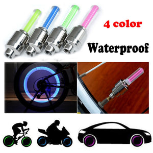 2PCS Bike Car Motorcycle Wheel Tyre Valve Cap Flash LED Light Lamp Accessories Auto Car-styling #40