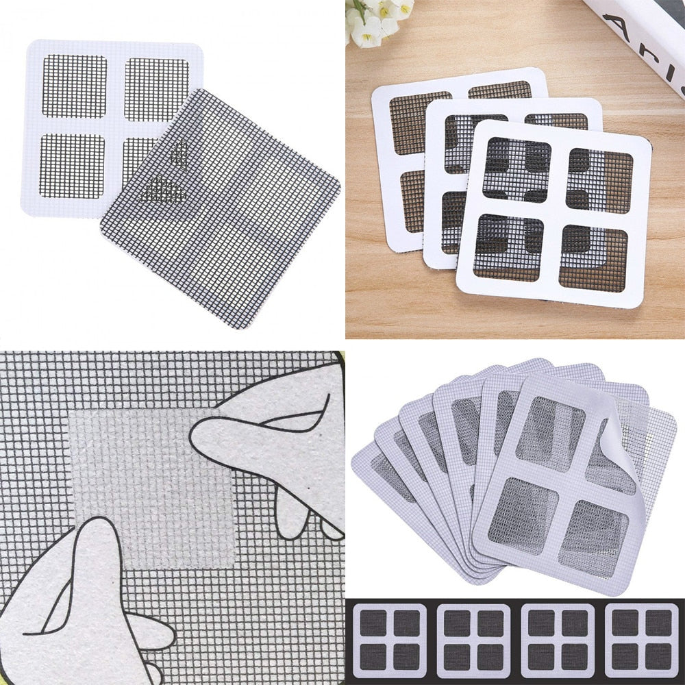5 Pack Fix Net Window Home Adhesive Anti Mosquito Fly Bug Insect Repair Screen Wall Patch Stickers Mesh Window Screen  77