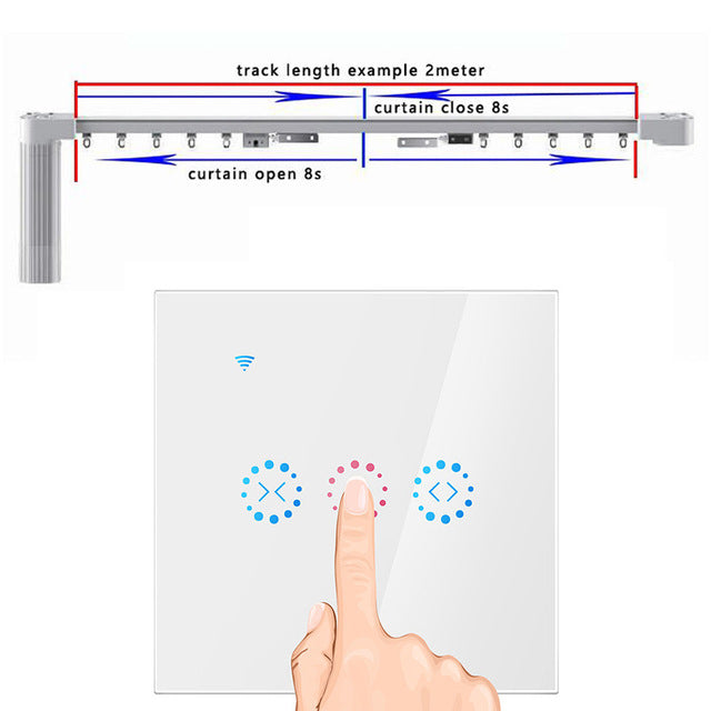 Smart Home WiFi Electric Touch Blinds Curtain Ewelink Switch Voice Control by Alexa Echo for Mechanical Limit Blinds Motor