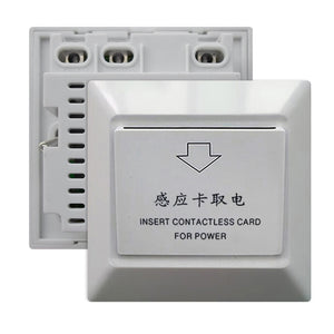 Power Supply Switch Insert Power Design for Star Hotels Motels Luxury Guest Room Energy Saving Wall Switch Key Card Holder