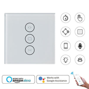 Smart Home WiFi Curtain Switch Smart Life Tuya for Electric Motorized Curtain Blind Roller Shutter Works with Alexa Google Home