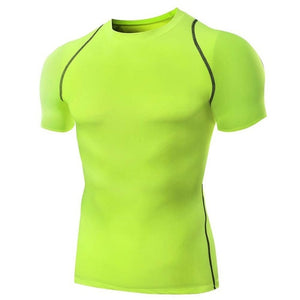 Men Famous Quick Dry Brand New T Shirt Fitness Men Compression Slim Fit T-Shirts Under Wear Tees
