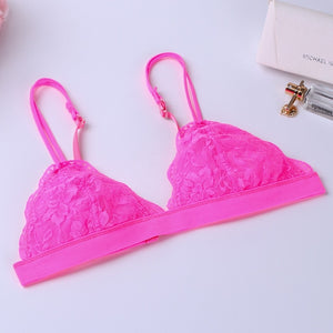 Lace Bralette Sexy Bras for Women Floral Wire Free Push Up Bra Half Cup Triangle Bralette Women Lingerie sujetador bh
