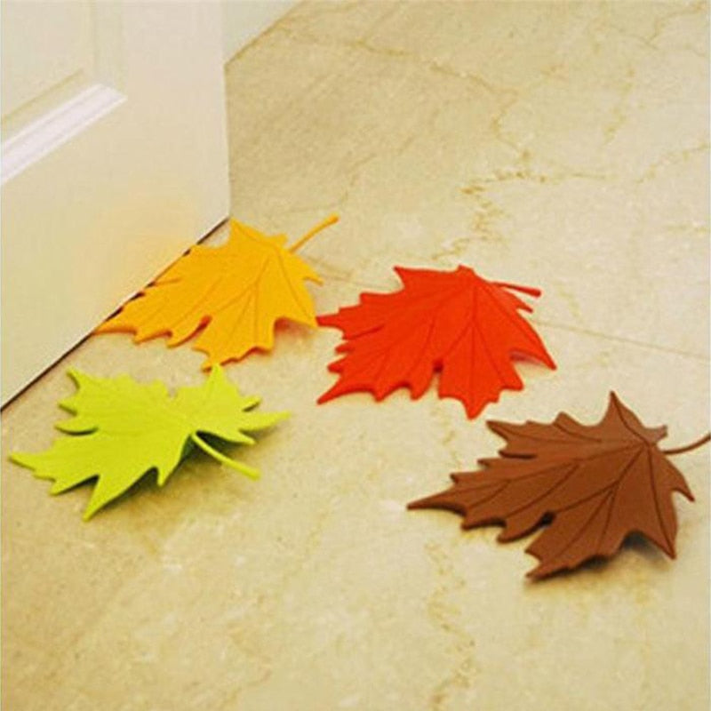 Maple Autumn Leaf Style Home Decor Finger Safety Door Stop Stopper Doorstop