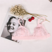 Load image into Gallery viewer, Lace Bralette Sexy Bras for Women Floral Wire Free Push Up Bra Half Cup Triangle Bralette Women Lingerie sujetador bh