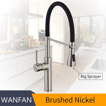 Load image into Gallery viewer, Kitchen Faucets Chrome Kitchen Sink Crane Deck Mount Pull Down Dual Sprayer Nozzle Torneira De Cozinha Mixer Water Taps LK-9910