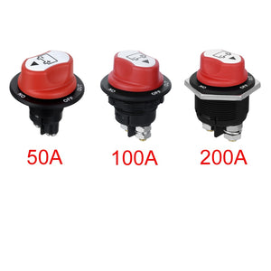 Jtron 50A 100A 200A Battery Isolator Cut Out Off Kill Switch Kit Car Race Rally Switch for motorcycle/car/boart