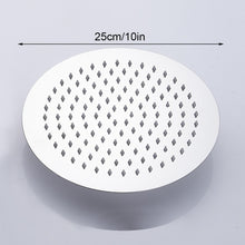 Load image into Gallery viewer, Everso 12/10/8/6/4 inch Stainless Steel Ultra-thin Waterfall Shower heads Rainfall Shower Head Rain Shower Square Round