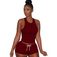 Load image into Gallery viewer, Free Ostrich Women Sexy Tracksuit Suit Camis Crop Top Pant Two Piece Set Women's Casual 2 Piece Set 2019 Summer Cropped C3035
