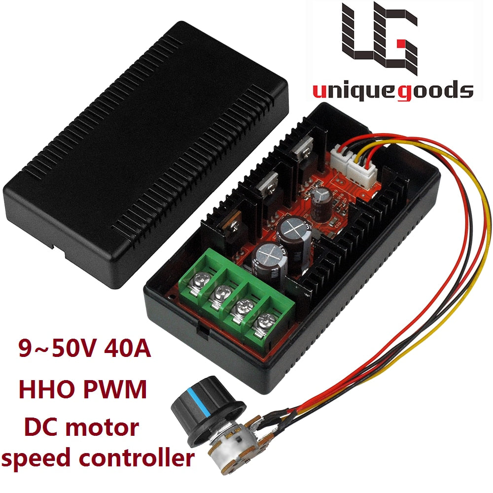 Ship From USA 12V 24V 48V 200HZ 2000W MAX 10-50V 40A DC Motor Speed Control PWM HHO RC Controller