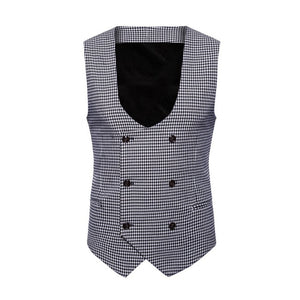 Free Shipping M-4XL Mens Formal Suit British Gentleman Style Blazers Vest Slim Fit Jacket Coat 80808