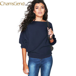 Chamsgend Sweater Newly Design Women Casual Batwing Sleeve Loose Pullovers Knit Sweaters Female Autumn Wear Drop Shipping 70925