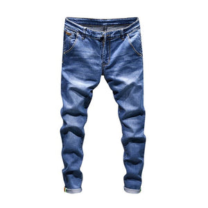 DOUDOULU 2018 Men's Casual Autumn Denim Cotton Vintage Wash Hip Hop Work Trousers Jeans Pants embroidered flower jeans mens #SS