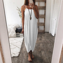 Load image into Gallery viewer, KANCOOLD dress Women Summer Loose Straps Sleeveless Dress Elegant Holiday Casual Party Beach dress women 2018jul20