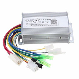 350W 36V/48V Waterproof Design Brush Speed Motor Controller for Electric Scooter Bicycle E-Bike Tricycle Controller