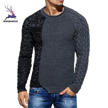 Load image into Gallery viewer, Men 2018 Fashion Men's Autumn Winter Pullover Knitted Raglan Patchwork Sweater Blouse Top cashmere sweater men wool zip