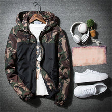 Load image into Gallery viewer, Plus Size S-5XL Autumn Men Jacket Slim Waterproof Military Camouflage Coats Hooded Zipper Male Bomber Jackets Windbreaker