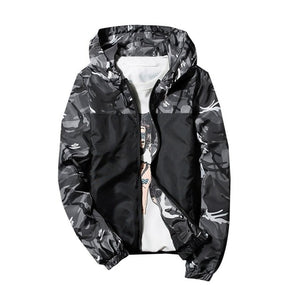 Plus Size S-5XL Autumn Men Jacket Slim Waterproof Military Camouflage Coats Hooded Zipper Male Bomber Jackets Windbreaker