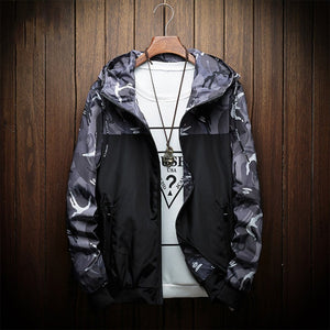 New Autumn Hooded Bomber Jacket Men Hip Hop Slim Fitness Military baseball Jackets Coat Men's Windbreaker Plus Size 4XL Moletom