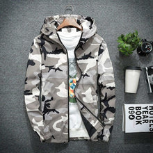 Load image into Gallery viewer, New Camouflage Mens Jacket Autumn Military Hoodies Army Windbreaker Hip Hop Coat Men Long Sleeve Outwear Baseball Bomber Jackets